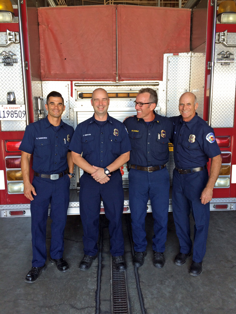 Thank you to Fire Chief Mike Daigle (third from left) for the personal tour of five city fire stations this week!