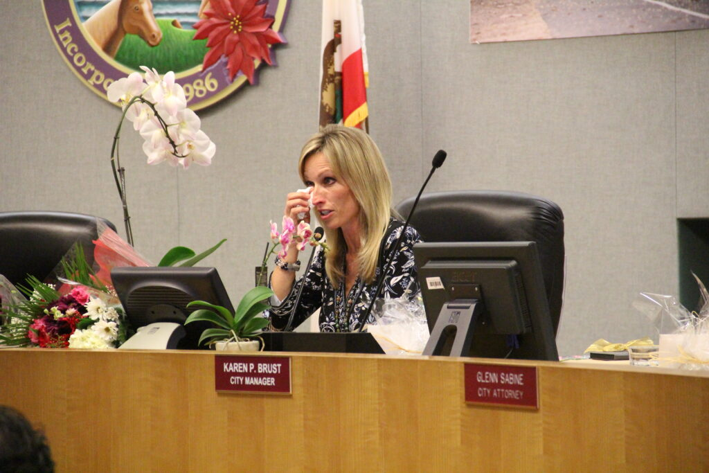 Outgoing Mayor Kristin Gaspar and others used up a lot of tissues on this emotional evening.